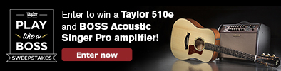"Taylor ""Play Like A Boss"" Sweepstakes"